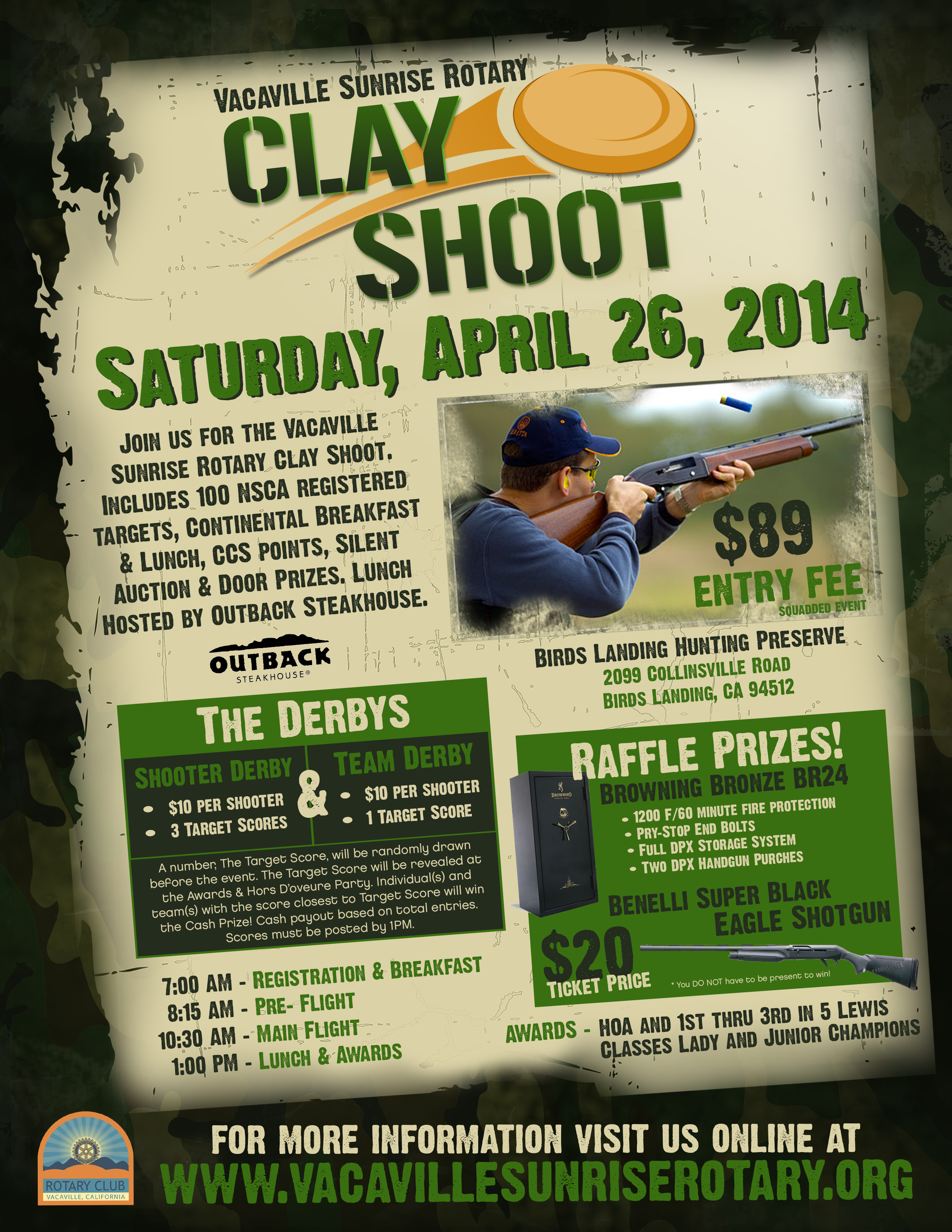 events clay shoot information
